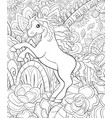 adult coloring bookpage a cute horse on the vector image vector image