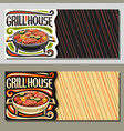 banners for grill house vector image
