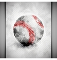 Baseball ball watercolor vector image vector image