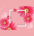 beautiful flower for banners vector image