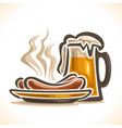 beer and sausages vector image