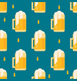 beer mug pattern in flat style vector image vector image