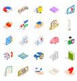 best icons set isometric style vector image