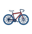 bicycle recreational transport health vehicle vector image