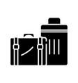 big suitcases black icon concept vector image