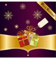 Christmas greetings card vector image
