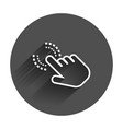 click hand icon cursor finger sign flat with vector image