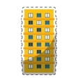 colorful apartment building line sticker vector image vector image