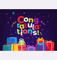 congratulations holiday greeting card vector image