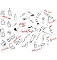 cosmetics perfume fashion beauty vector image vector image