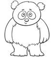 cute baby panda cartoon coloring book page vector image