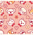 cute pets seamless pattern vector image vector image