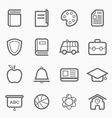 education symbol line icon vector image vector image