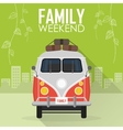 Family Vacation Car with Luggage vector image vector image