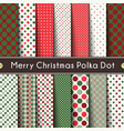 fourteen merry christmas polka dot vector image vector image