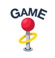 game classic retro joystick icon image vector image