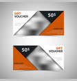 gift voucher with abstract design triangles vector image vector image
