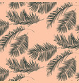 green palm leaves pattern vector image