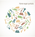 Home repair symbols vector image vector image