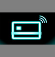icon wi-fi contactless wireless pay sign logo vector image vector image