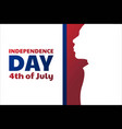 independence day in united states america usa vector image vector image