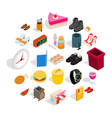 inside the house icons set isometric style vector image vector image