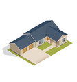 isometric suburban house with double garage vector image vector image