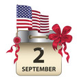 labor day calendar vector image