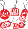 Last minute red tag set vector image vector image
