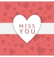 Miss you background vector image vector image