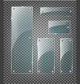 modern transparent glass plates set on vector image vector image