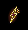 neon sign lightning glowing on black background vector image vector image