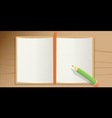 notebook pencil vector image vector image