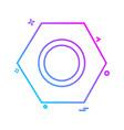 nuts icon design vector image vector image