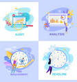 office life flat collection vector image