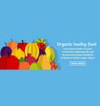 organic healthy food banner horizontal concept vector image