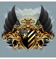 ornamental shield vector image