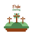 palm sunday three crosses in the hills card vector image vector image
