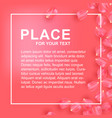 petals rose card for information vector image