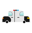 police car cartoon style isolated transport on vector image vector image