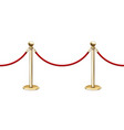 realistic seamless golden barrier rope vector image vector image