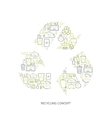 Recycling garbage icons vector image vector image