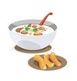 rice porridge vector image vector image