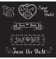 save date wedding invitation hand drawn vector image vector image