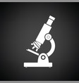 school microscope icon vector image vector image