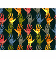 seamless hand pattern vector image vector image