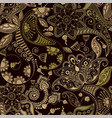 seamless pattern indian floral ornament vector image