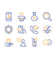 security mobile finance and doppio icons set vector image vector image