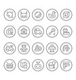 set line icons toys vector image vector image