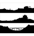 Silhouette of a City Landscaoe vector image vector image